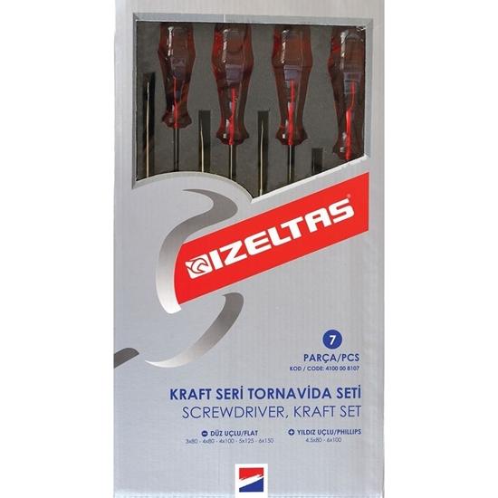 Picture of İzeltaş 4100 Kraft Seri Tornavida Seti (7 Parça)