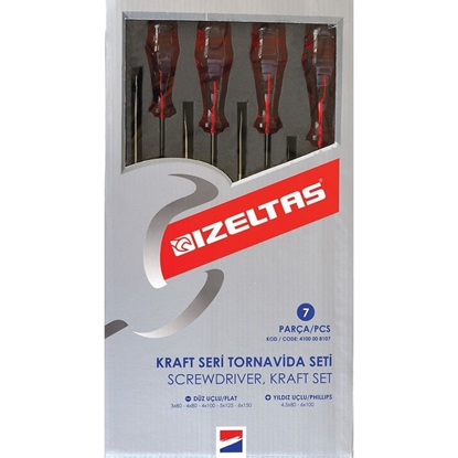 izeltaş 4100 Kraft Seri Tornavida Seti (7 Parça)